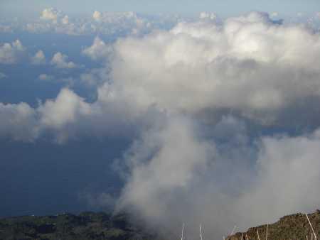 Passatwind und horizontaler Regen